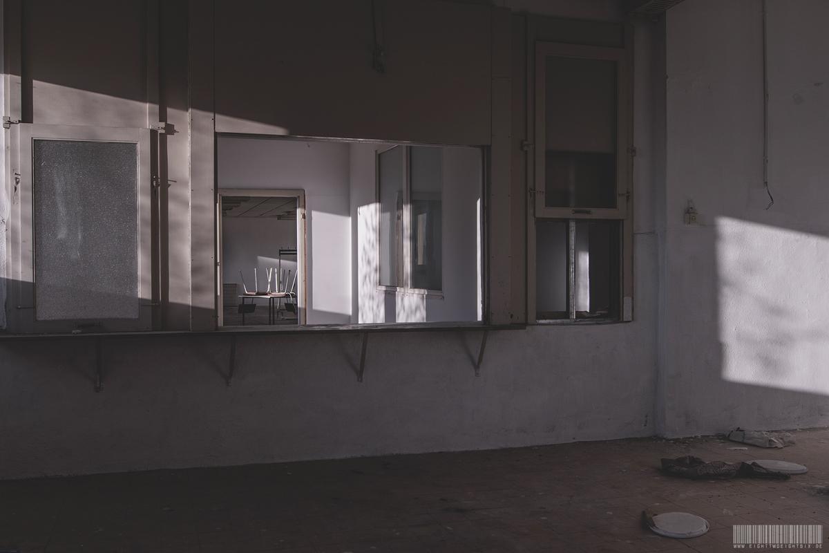 Blick aus Küche zum Speisesaal