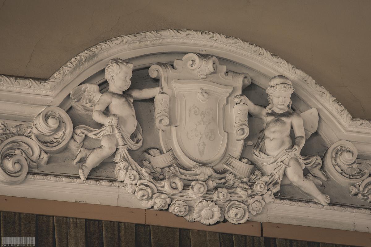 Engel mit Wappen