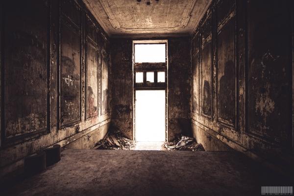 burnt entrance