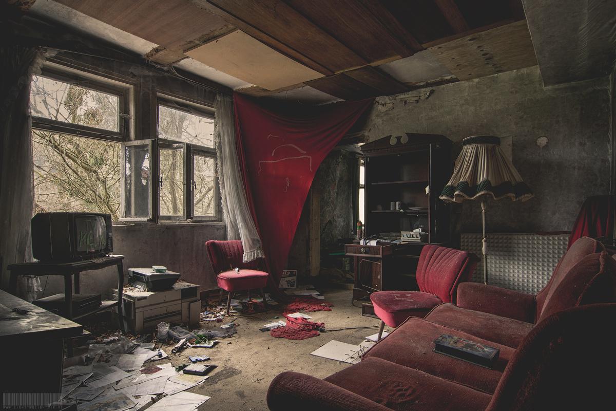 Das Fernsehzimmer im Obergeschoss