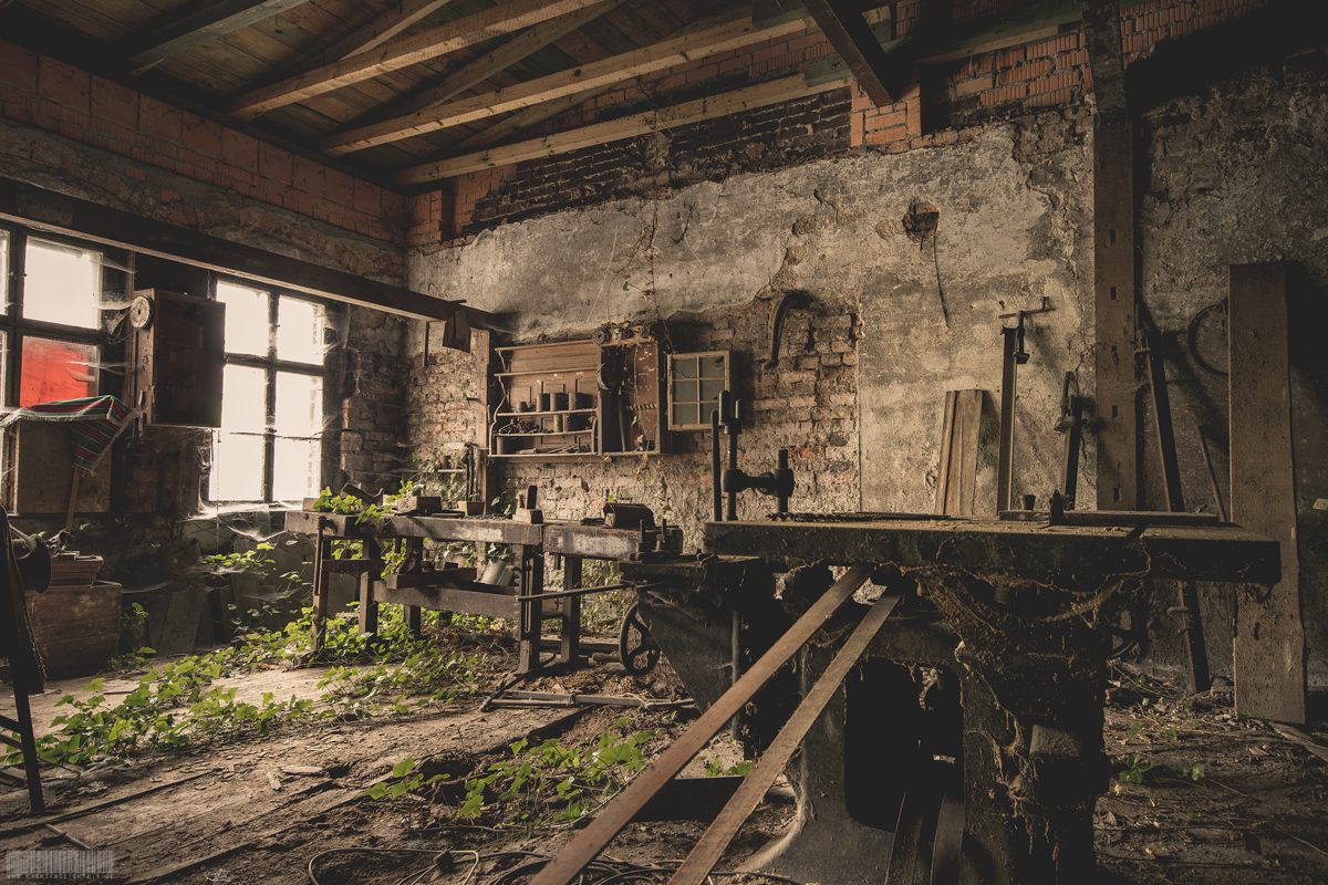 verlassene Tischlerei