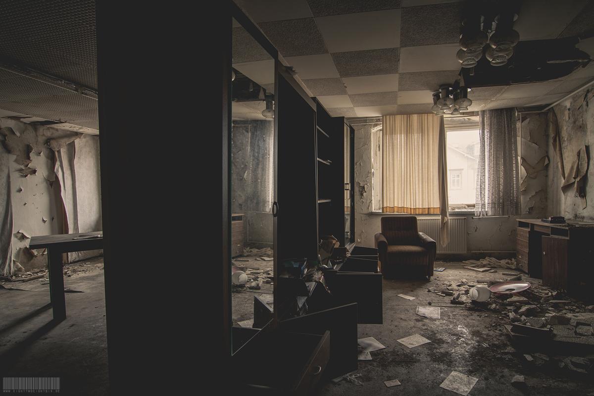 verlassenes Hotelzimmer