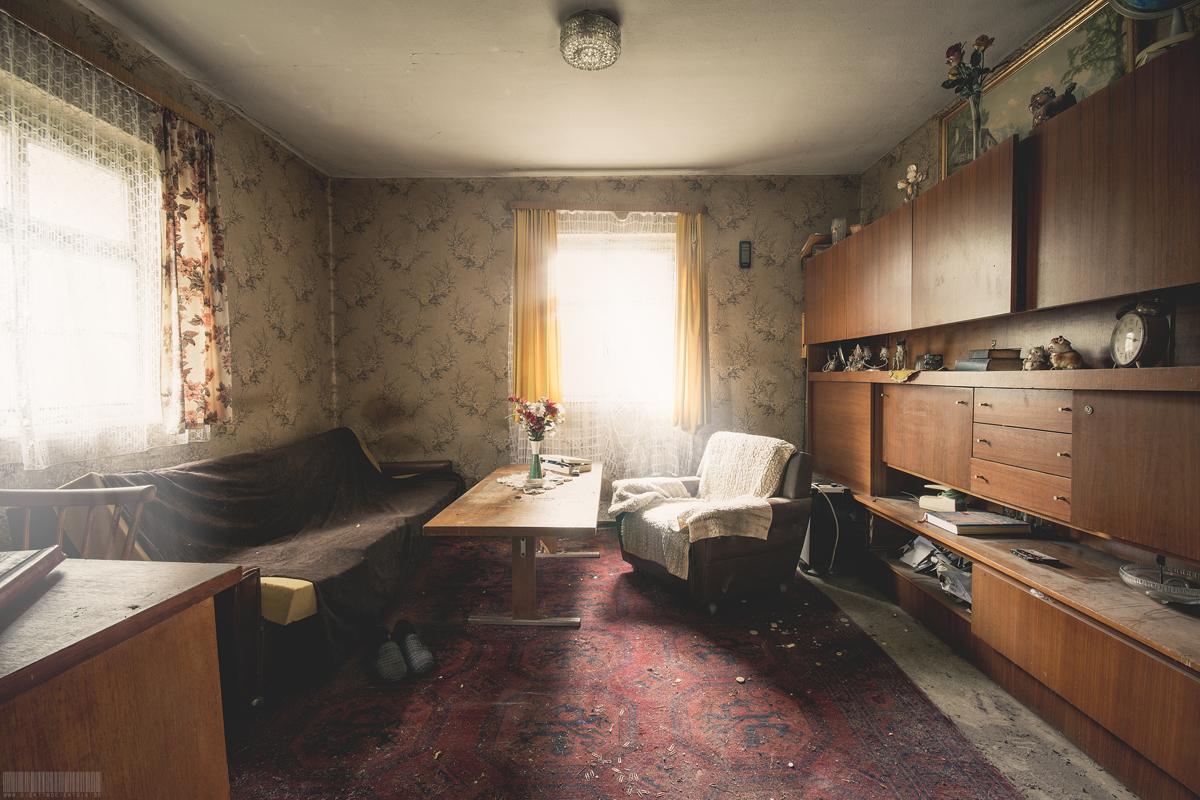 Wohnzimmer des Busfahrers