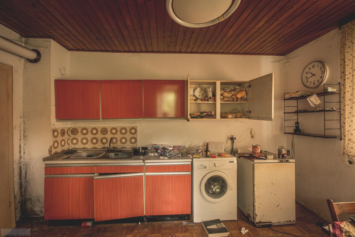 Küche des Busfahrers