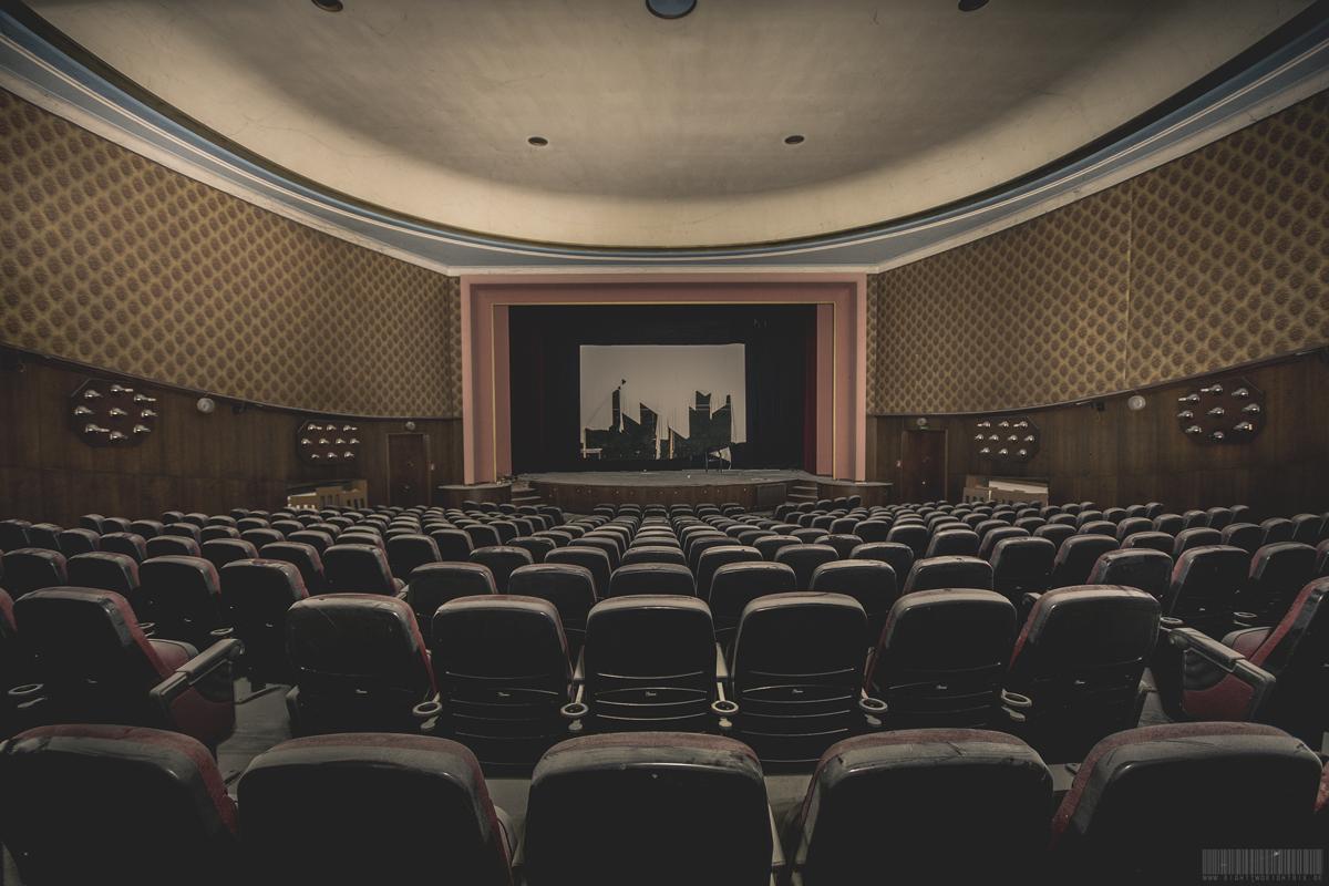 verlassener Kinosaal