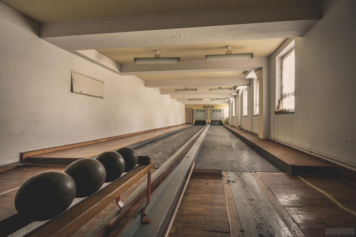 verlassene Kegelbahn