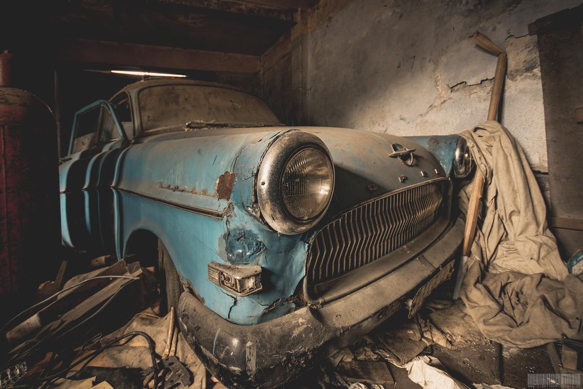 vergessener Opel Kapitän 56 57 Lost Place Sachsen - Oldtimer - verlassene Orte